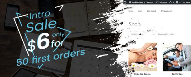 WooCommerce Booking Hours & Calendar - 1