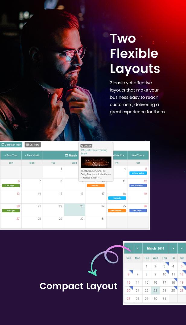 Tiva Events Calendar For jQuery - 10