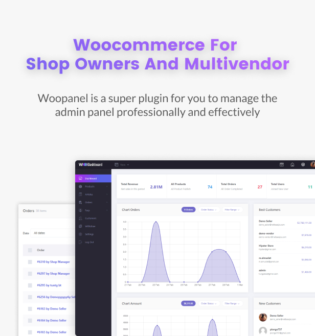 WooCommerce Dashboard for WP Marketplace & Multi Vendor - 5