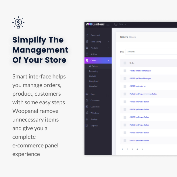 WooCommerce Dashboard for WP Marketplace & Multi Vendor - 7