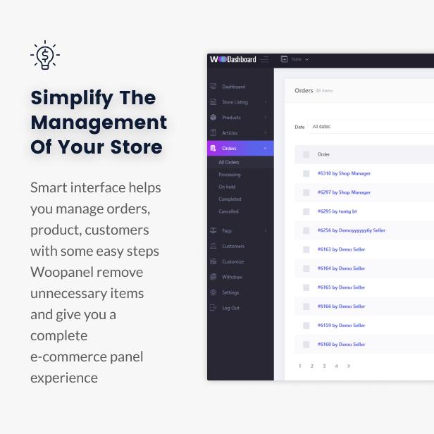 WooCommerce Dashboard for WP Marketplace & Multi Vendor - 7