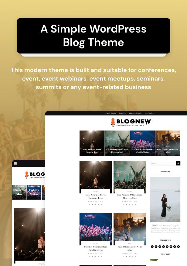 Blognew – Event Management WordPress Blog Theme - 12