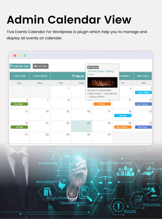 Tiva Events Calendar For WordPress - 9